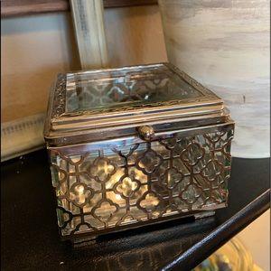 Cynthia Rowley Glass Jewelry Box